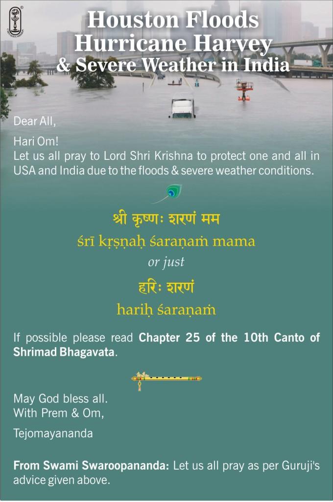 Prayers for Houston & India